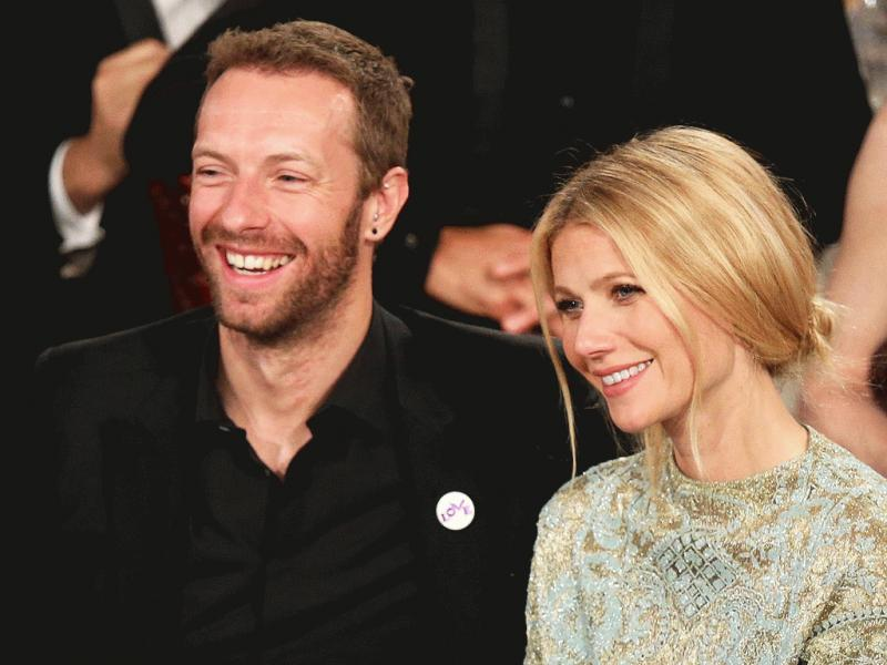 Gwyneth Paltrow and Chris Martin photographed together during happier times.