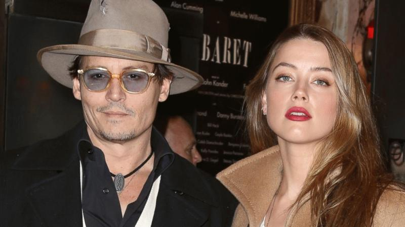 Amber Heard and Johnny Depp in an undated photo.