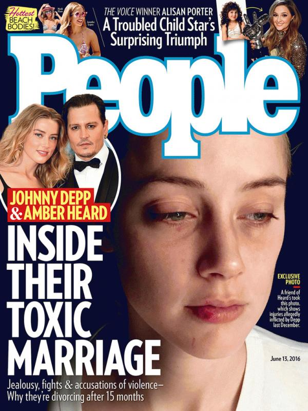 Amber Heard on the latest cover of People magazine.