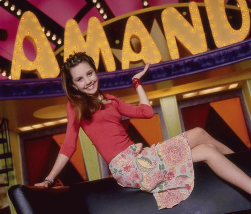 "Amanda Bynes in a promotional photo for ""The Amanda Show"" during her younger years."