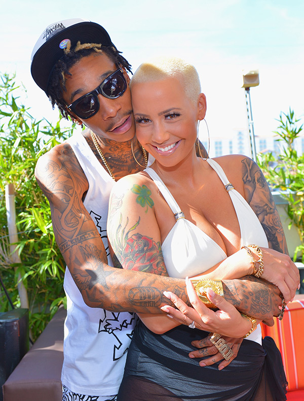 Amber Rose and Wiz Khalifa in an undated photo.