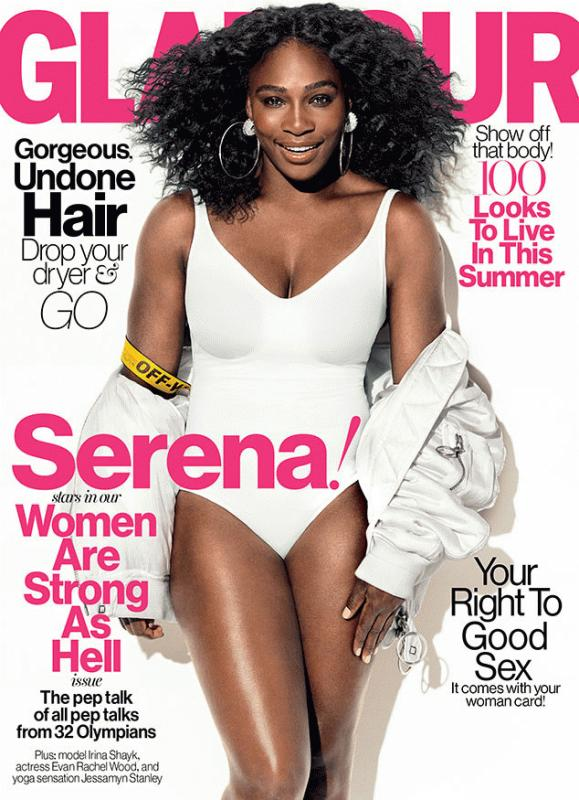 Serena Williams for the July issue of Glamour magazine.