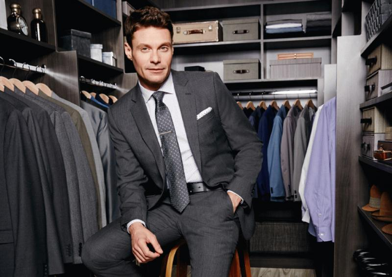 Ryan Seacrest in a promotional photo for his new clothing line Ryan Seacrest Distinction Rio.