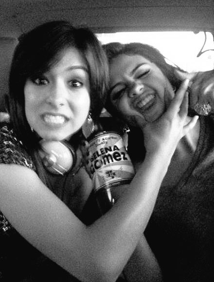 Christina Grimmie and Selena Gomez in a throwback photo.