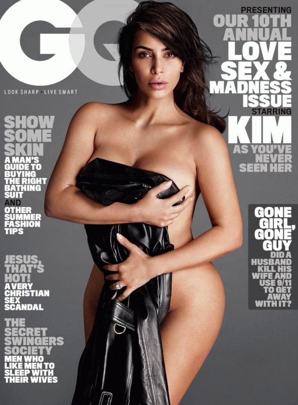 Kim Kardashian for the July issue of GQ magazine.
