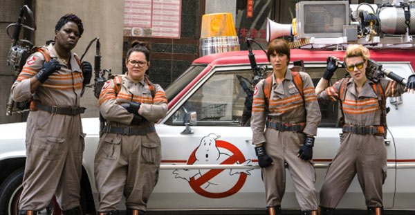 "A promo photo showing ""Ghostbusters"" the cast for the all-female reboot."