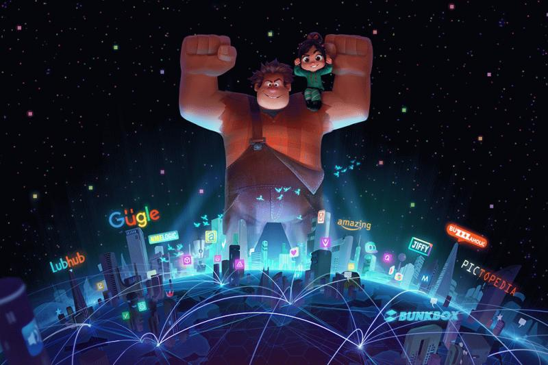 "A promotional photo showing ""Wreck-It Ralph."""