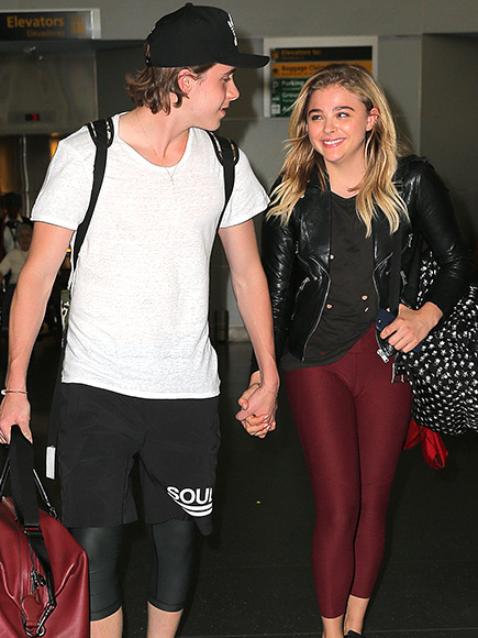Chloe Grace Moretz and Brooklyn Beckham spotted at the Los Angeles airport.
