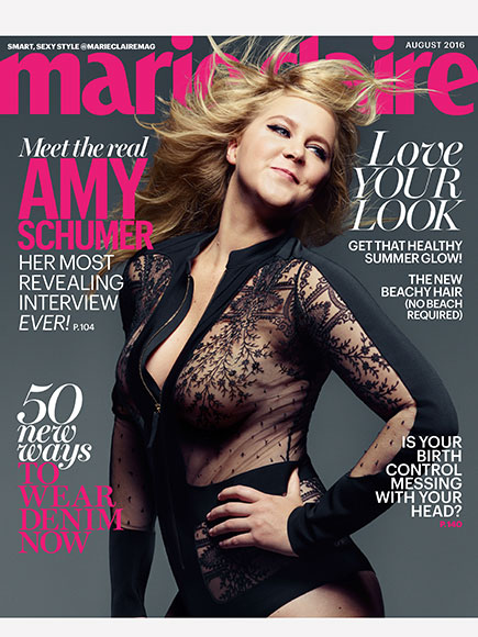 Amy Schumer for Marie Claire's August issue.