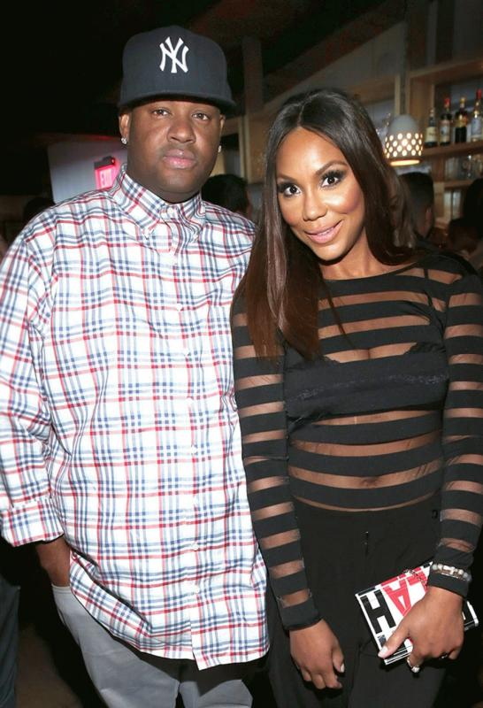 Tamar Braxton with her husband in an undated photo.