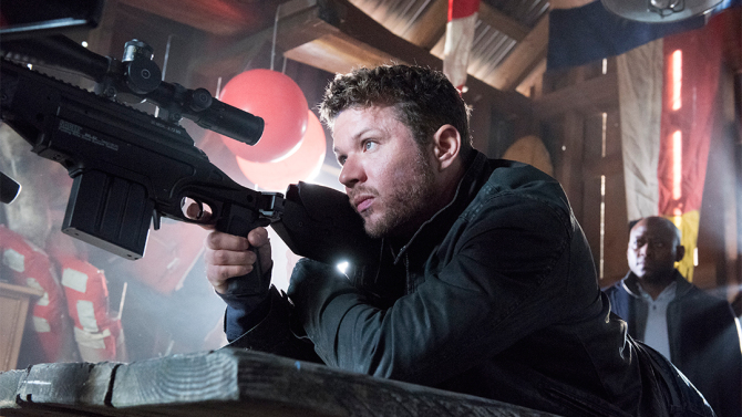 """A promo photo for the USA Network show """"Shooter"""" showing lead star Ryan Philippe."""