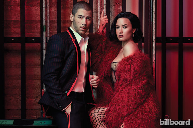 Demi Lovato and Nick Jonas for the latest issue of Billboard magazine.