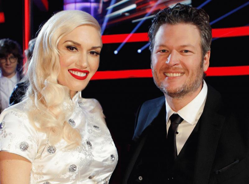 Gwen Stefani and Blake Shelton in an undated photo.
