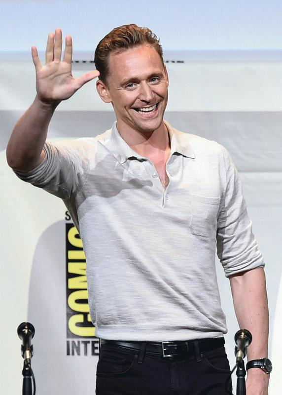 Tom Hiddleston photographed at the San Diego Comic-Con over the weekend.