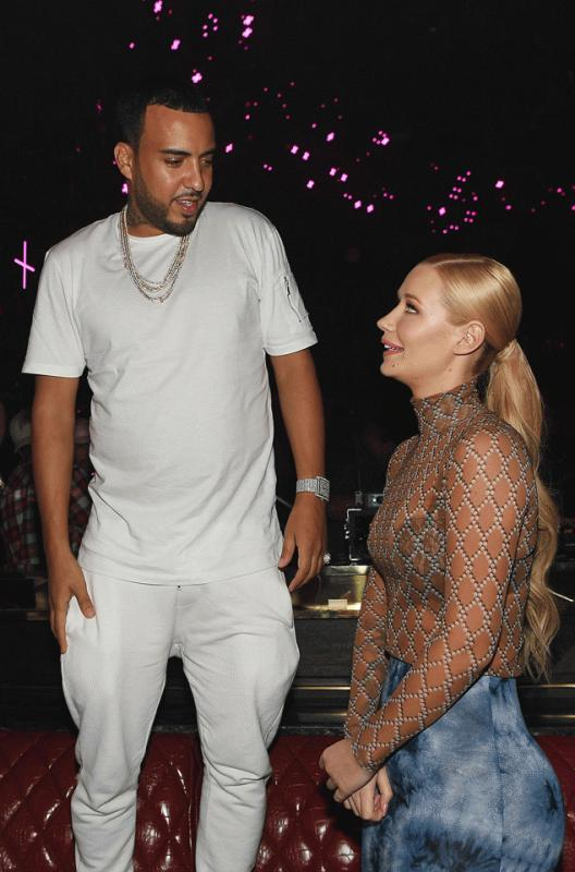 French Montana and Iggy Azalea spotted together at the Jewel night club in Las Vegas.