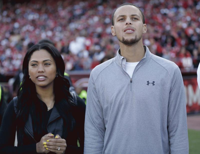 Stephen and Ayesha Curry in an undated photo.