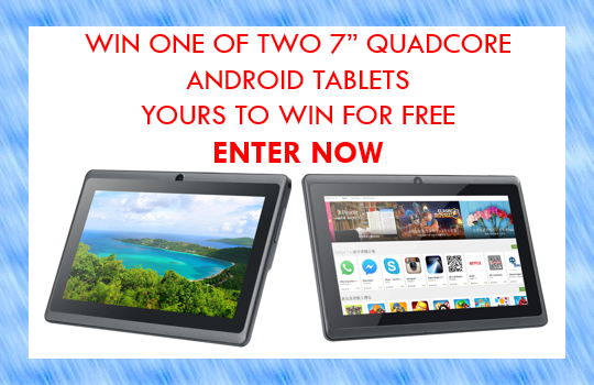 Two Android tablets