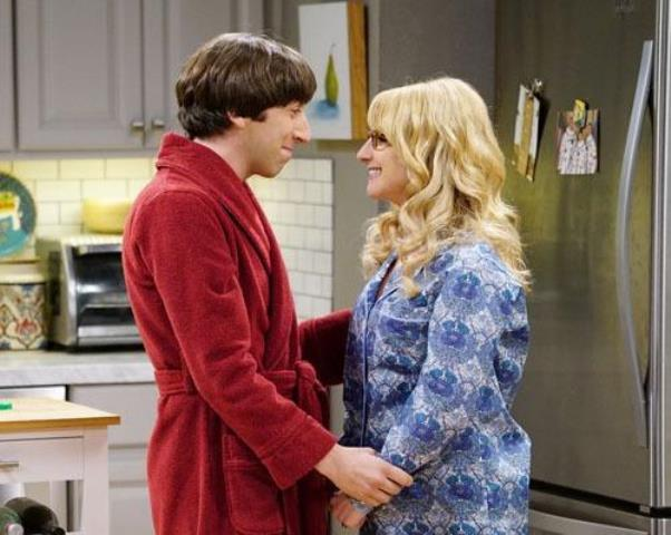 "Howard and Bernadette celebrate their pregenancy in one of the episodes of ""The Big Bang Theory"" Season 9."