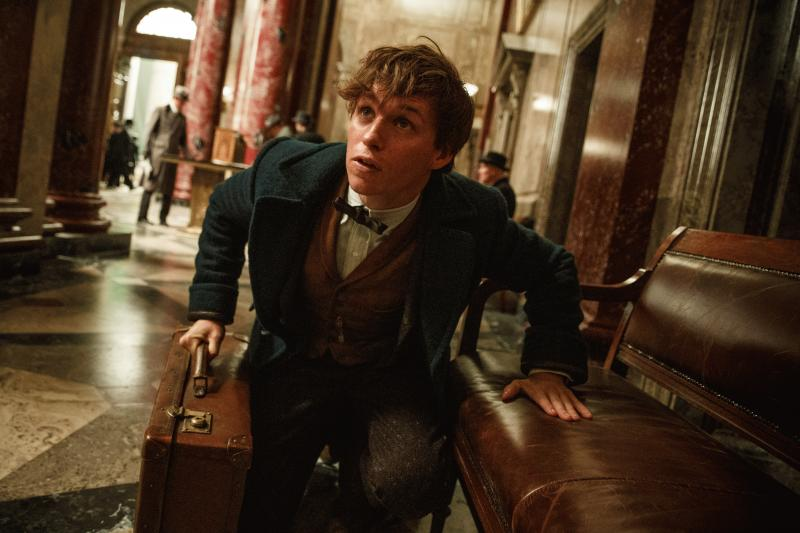 """A promo photo showing Eddie Redmayne for """"Fantastic Beasts and Where to Find Them."""""""