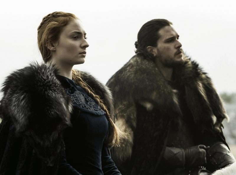 Sansa Stark and Jon Snow in a promo photo.