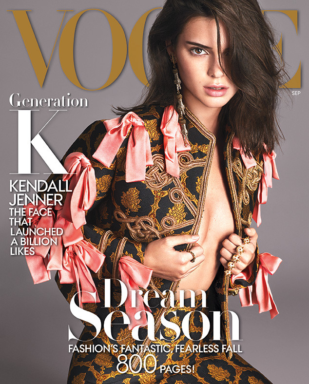 Kendall Jenner for the September issue of Vogue magazine.