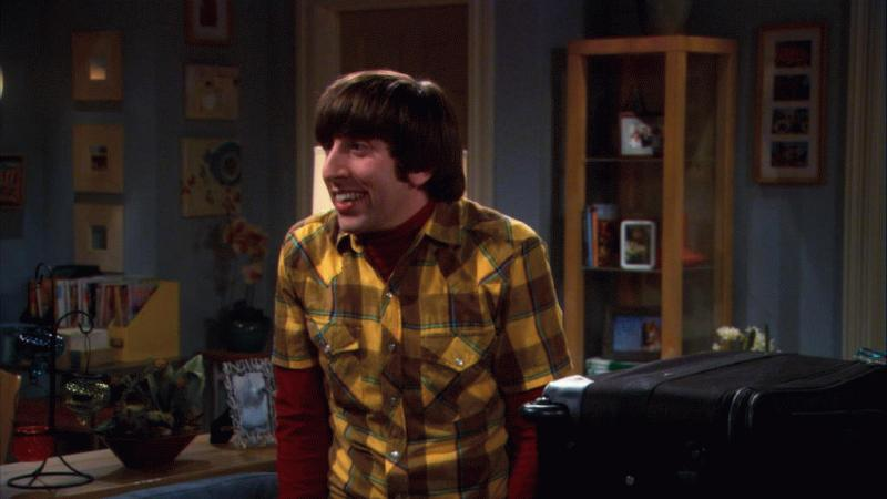 "An undated photo showing Howard, played by Simon Helberg, in one of the episodes of ""The Big Bang Theory."""