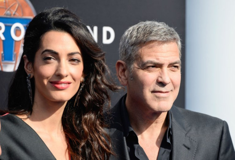 George Clooney and Amal Alamuddin in an undated photo.
