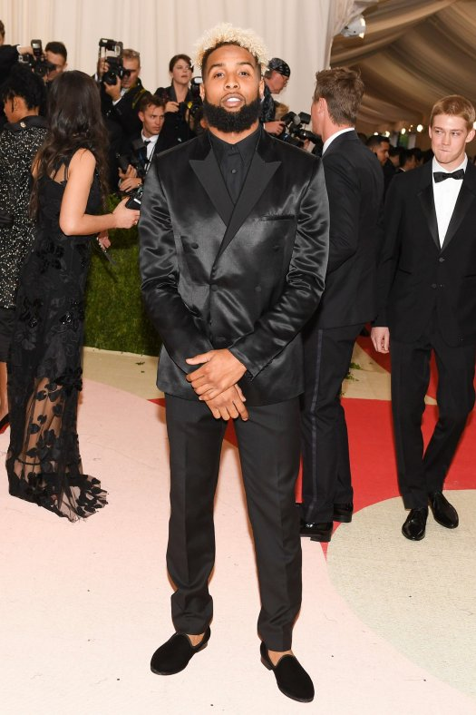 Odell Beckham Jr. photographed during this year's MET Gala.