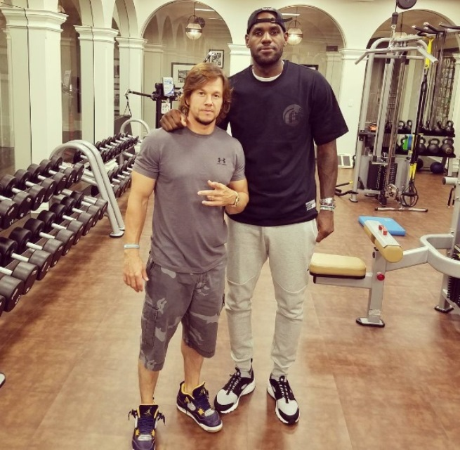 LeBron James with Mark Wahlberg in a photo uplaoded by the NBA star.