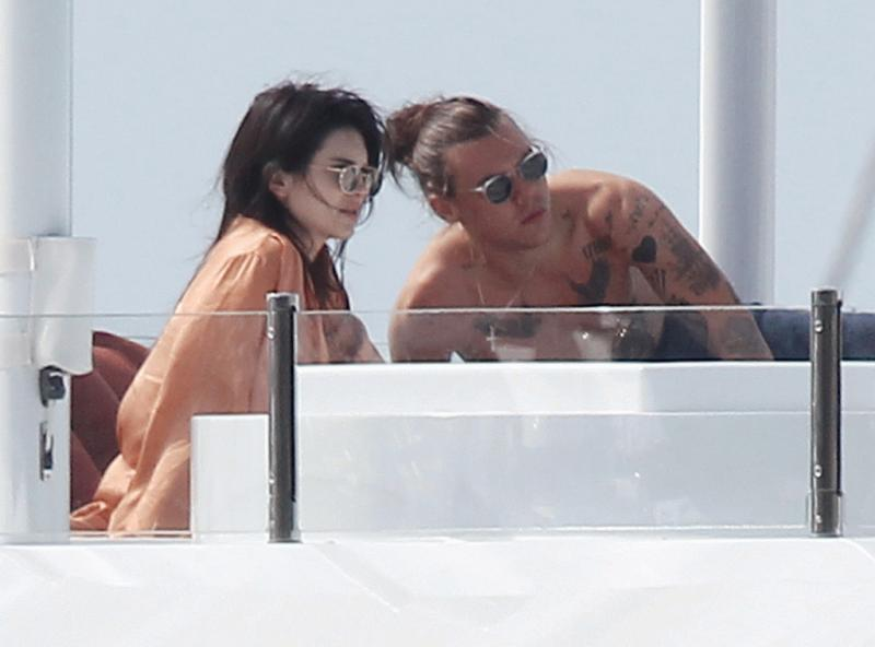 Kendall Jenner and Harry Styles photographed during their January vacation.
