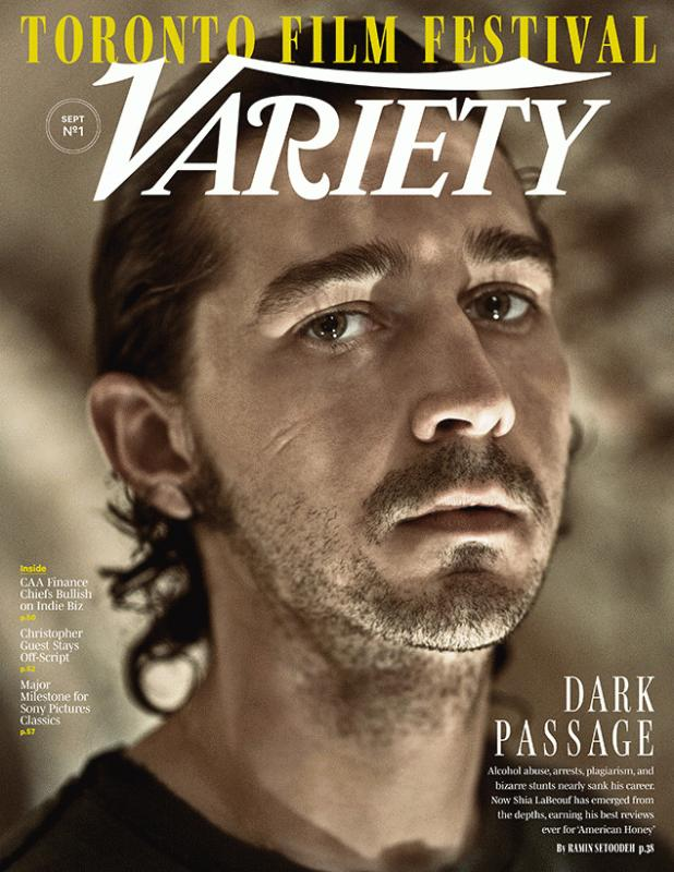 Shia LaBeouf covers the latest issue of Variety magazine.