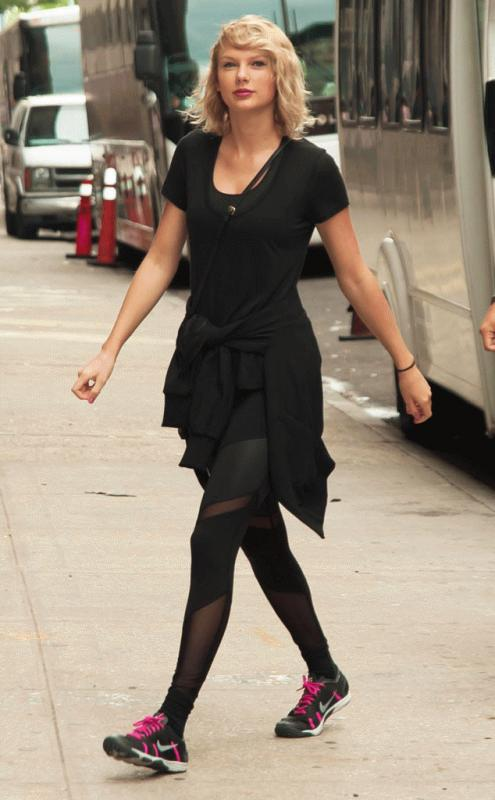 Taylor Swift spotted in New York City.