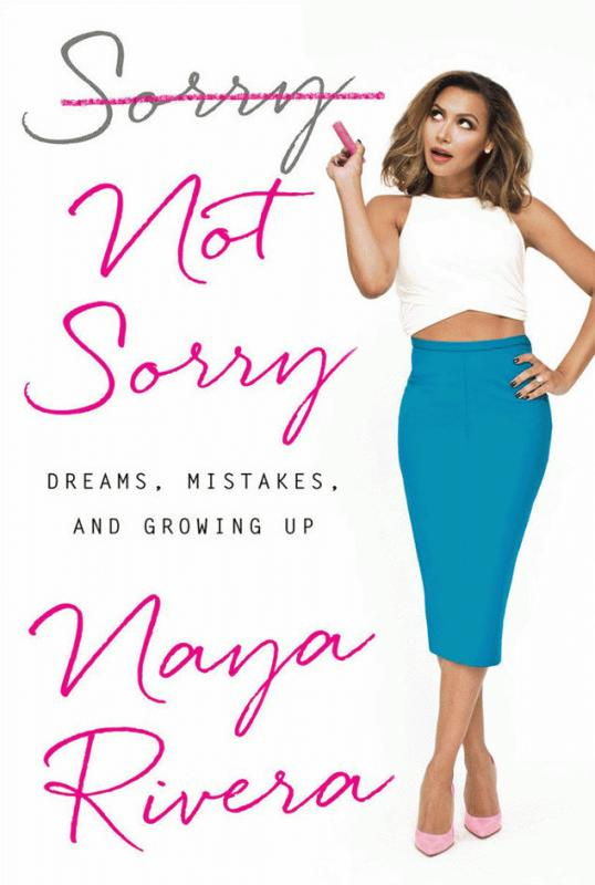 "A photo showing the memoir of Naya Rivera, ""Sorry Not Sorry."""