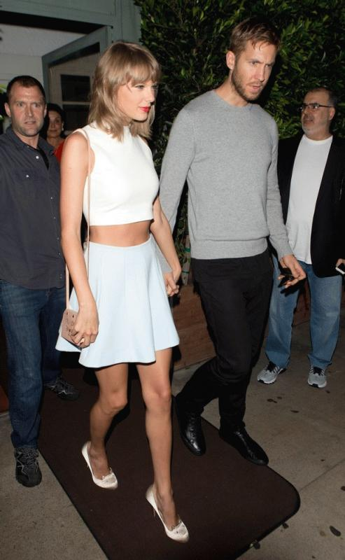 Calvin Harris and Taylor Swift photographed during happier times.