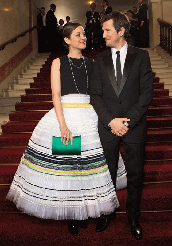 Marion Cottilard and her partner Guillaume Canet in an undated photo.