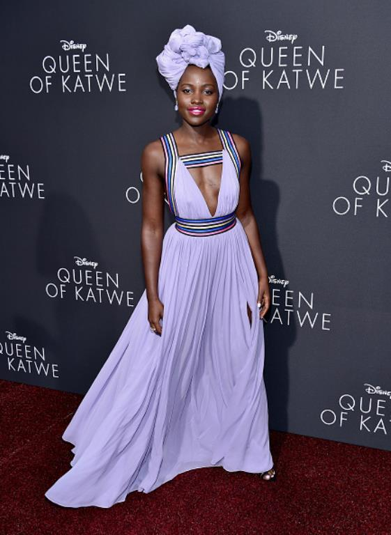 "Lupita Nyong'O photographed during the premiere of ""Queen of Katwe"" in Hollywood."