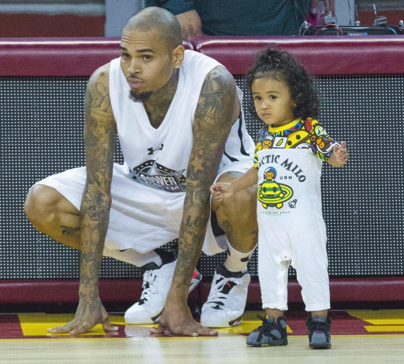 Chris Brown with his daughter Royalty in an undated photo.