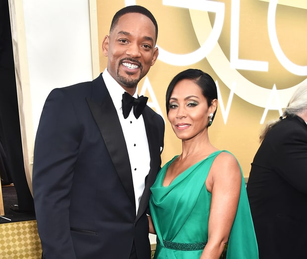 Jada Pinkett-Smith and Will Smith in an undated photo.