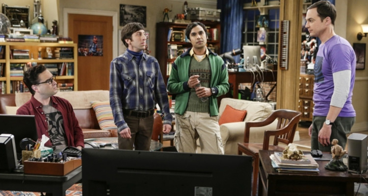 "The boys on ""The Big Bang Theory"" from a still from Season 10 Episode 2."