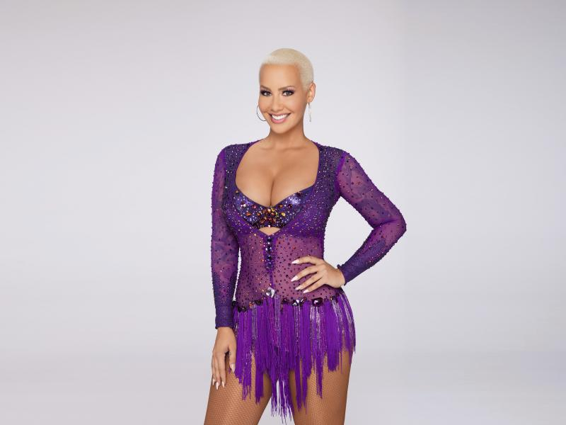 """Amber Rose in a promo photo for """"Dancing With The Stars."""""""