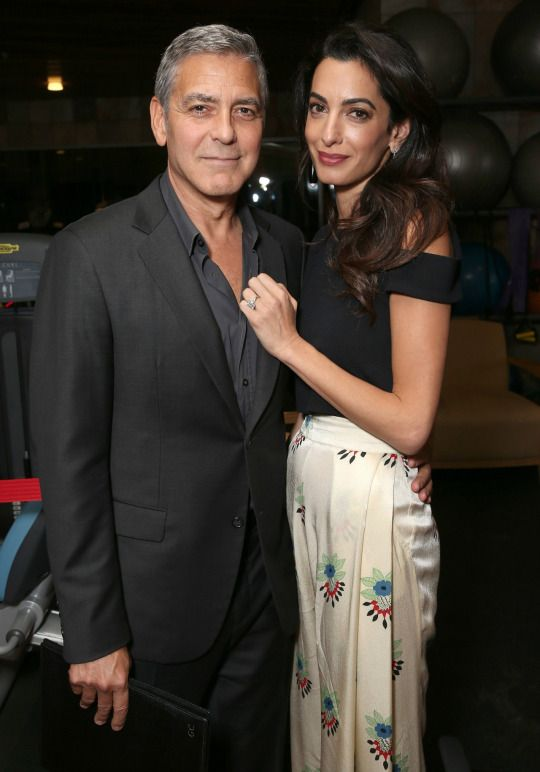 Amal Alamudin and George Clooney in an undated photo.