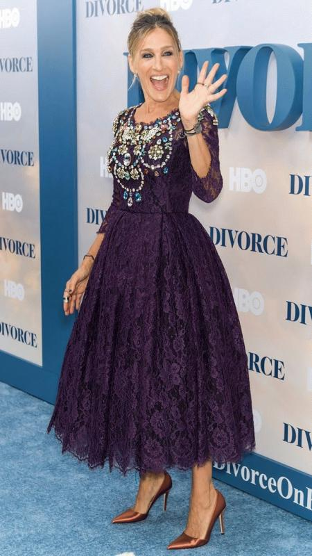 "Sarah Jessica Parker photographed during the New York City premiere of the new HBO show ""Divorce."""