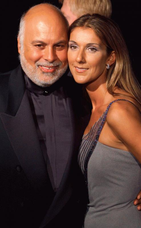 Celine Dion and Rene Angelil in an undated photo.