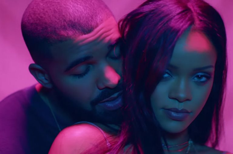 Drake and Rihanna in an undated photo.