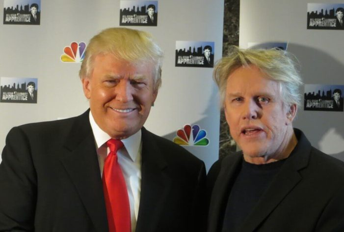 Gary Busey and Donald Trump in an undated photo.