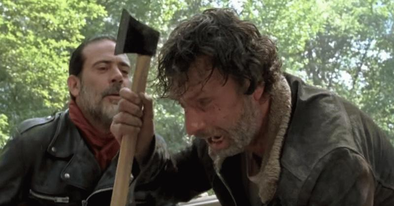 """Rick and Negan in one of the scenes on """"The Walking Dead"""" Season 7 Episode 1."""