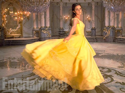 """A promo photo for the live-action """"Beauty and the Beast"""" Disney flick from the Entertainment Weekly cover story."""
