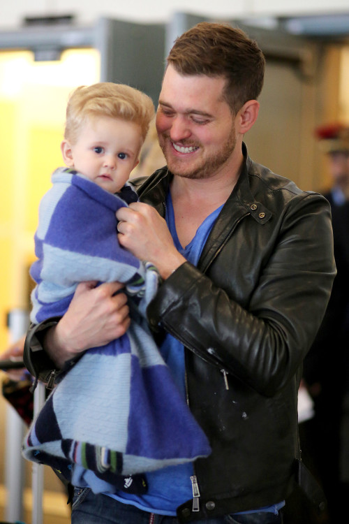 Michael Buble and his son Noah in an undated photo.