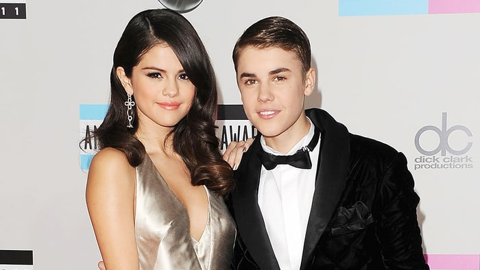 Justin Bieber and Selena Gomez in an undated photo.