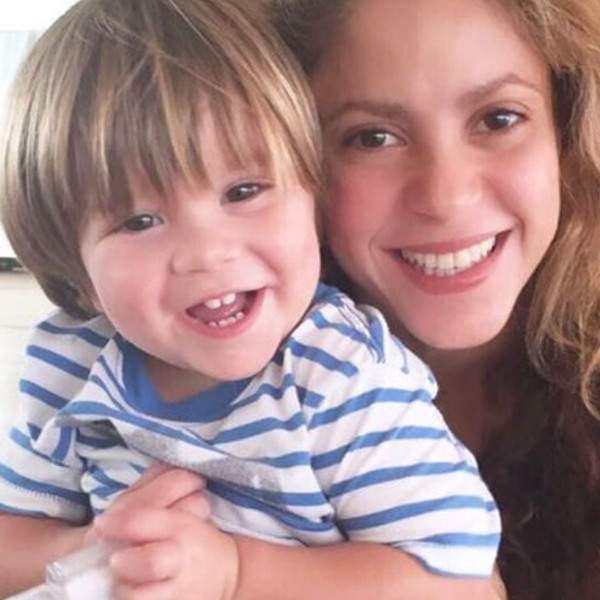 Shakira with her second son in a photo uploaded on Instagram.